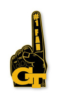 Georgia Tech #1 Fan Pin