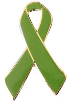Green Ribbon Awareness Pin