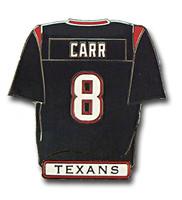 Houston Texans David Carr Jersey Pin