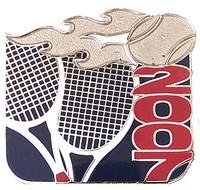 2007 US Open Flaming Racquet Pin
