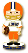 Illinois Football Bobble Head Pin