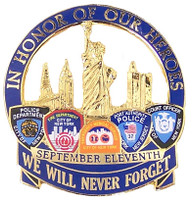 In Honor Of Our Heroes September 11th Pin