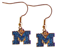 Michigan Sparkle Logo Earrings