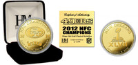 San Francisco 49ers 2012 NFC Champions 24KT Gold Coin