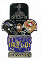 Super Bowl XLVII (47) Oversized Commemorative Pin (One Piece)
