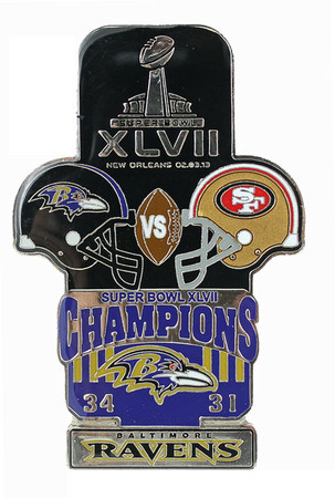 Super Bowl XLVII (47) Oversized Commemorative Pin (One Piece). Image 1 bf16d1577