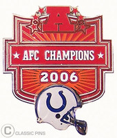 Indianapolis Colts 2006 AFC Champs Pin