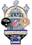 "Baltimore Ravens Super Bowl XLVII (47) Champions ""Medium"" Pin"