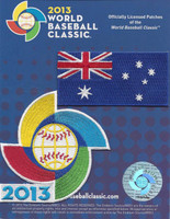 Australia 2013 World Baseball Classic 2 Patch Set