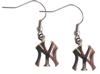 "New York Yankees Silver or Gold ""NY"" Earrings"