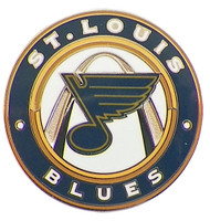 St. Louis Blue Circle Pin