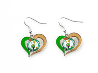 Boston Celtics Swirl Heart Earrings