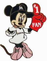 Miami Marlins Minnie Mouse #1 Fan Disney Pin