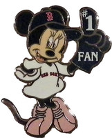 Boston Red Sox Minnie #1 Fan Disney Pin