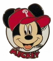 Philadelphia Phillies Mickey Mouse Disney Pin