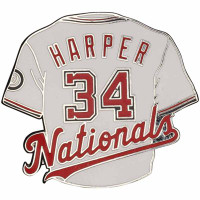Washington Nationals Bryce Harper #34 Jersey Pin