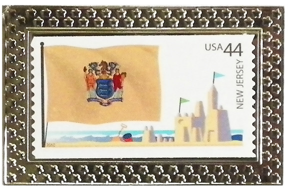 State Of New Jersey Stamp Pin