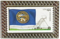 State of Nebraska Stamp Pin