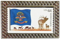 State of North Dakota Stamp Pin