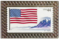 American Flag Stamp Pin - State Stamp Pin Collection