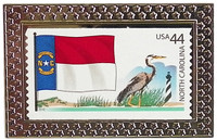 State of North Carolina Stamp Pin