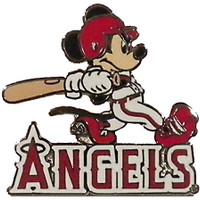 Los Angels Angels Mickey Slugger Disney Pin