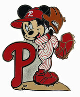 Philadelphia Phillies Mickey Wind Up Disney Pin