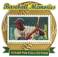 Larry Doby Baseball Memories Stamp Pin - Limited 1,000