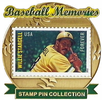 Willie Stargell Baseball Memories Stamp Pin - Limited 1,000
