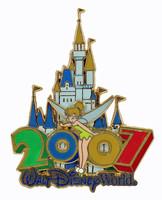 2007 Walt Disneyland Double Pin - Tinkerbell