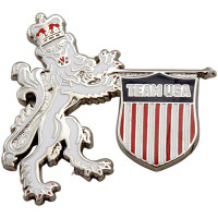 Team USA Lion & Shield Pin
