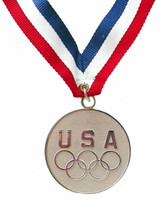 USA Five Rings Silver Medal Medallion