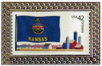 State of Kansas Stamp Pin