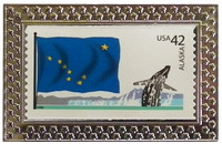 State of Alaska Stamp Pin