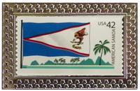 America Samoa Pin Stamp Pin