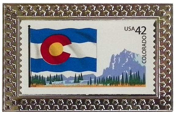 State Of Colorado Stamp Pin