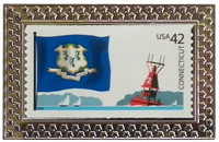State of Connecticut Stamp Pin