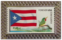 Puerto Rico Stamp Pin