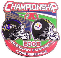 2008 AFC Champions Steelers vs. Ravens Pin