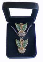 Christmas Holiday Angel Pin & Necklace Box Set