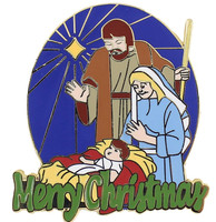 Merry Christmas Nativity Lapel Pin