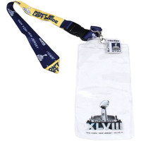 "Super Bowl XLVIII (48) Lanyard w/ Ticket Holder & ""I Was There"" Pin"