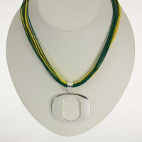 "Oregon Logo Multi-Cord 18"" Necklace"