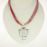 "Indiana Logo Multi-Cord 18"" Necklace"