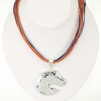 "Boise State Logo Multi-Cord 18"" Necklace"