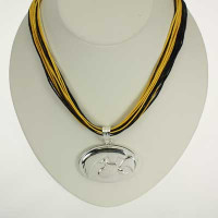 "Iowa Logo Multi-Cord 18"" Necklace"