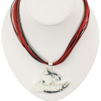 "Louisville Logo Multi-Cord 18"" Necklace"