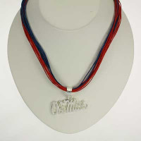 "Mississippi Logo Multi-Cord 18"" Necklace"