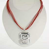 "North Carolina State Logo Multi-Cord 18"" Necklace"