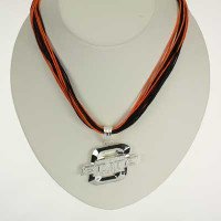 "Oklahoma State Logo Multi-Cord 18"" Necklace"